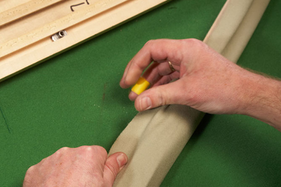Pool Table Cushion Recover Process 4