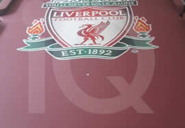 Images of a recent Recover of a HGM Diplomat Pool Table in custom Liverpool FC Cloth