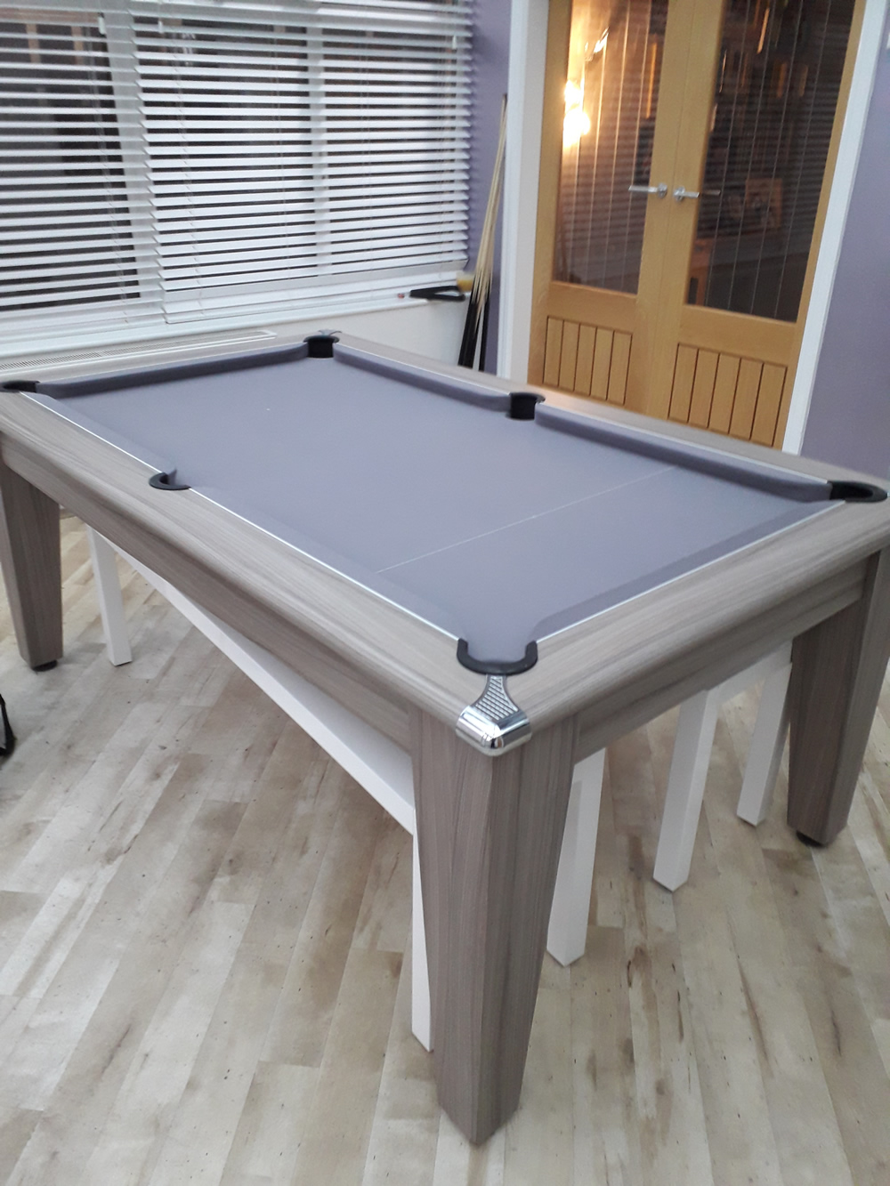 Gatley driftwood dining pool table