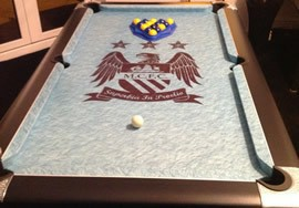 Pool Table Logo Cloth Recovering