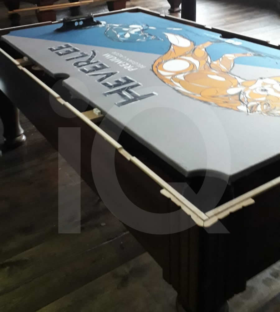 Pool Table Recover in Heverlee Branded Cloth Photo 10 After