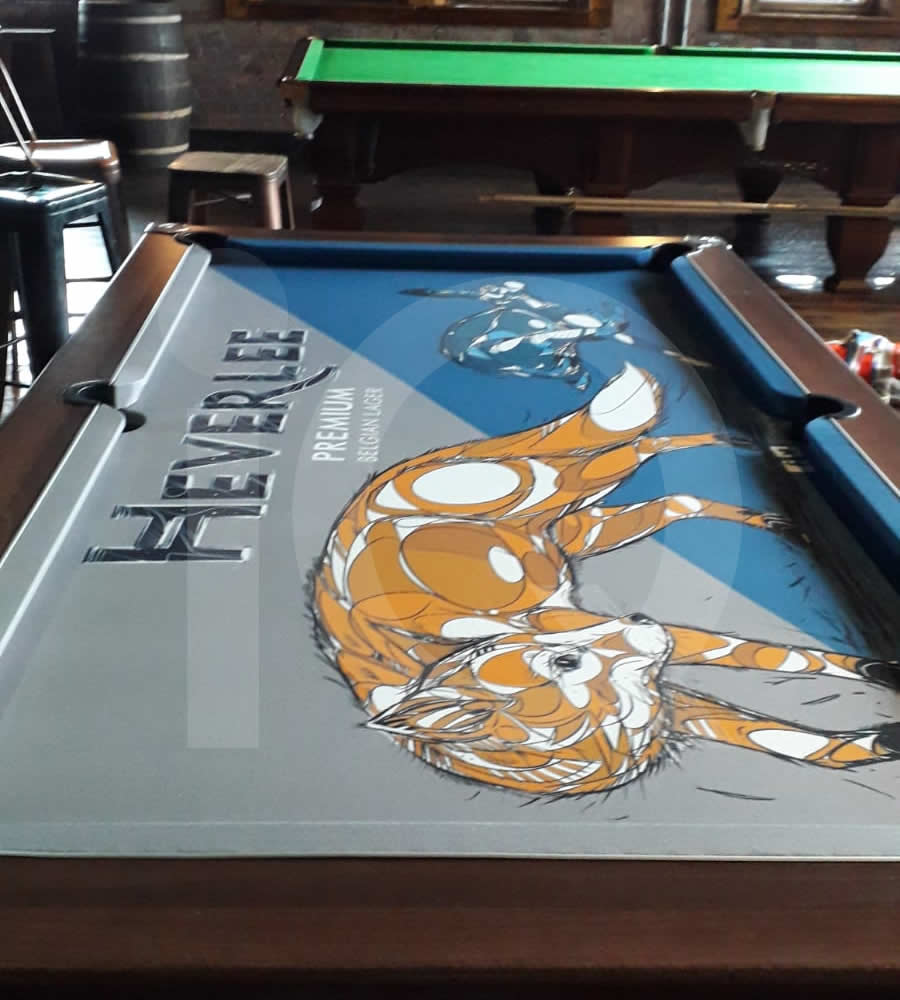 Pool Table Recover in Heverlee Branded Cloth Photo 17 After