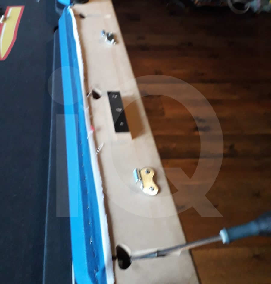 Pool Table Recover in Heverlee Branded Cloth Photo 5 Before