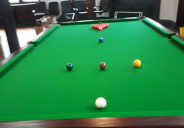 10ft Parkers of Bexley Snooker Table Recovered in Green 6811 Cloth