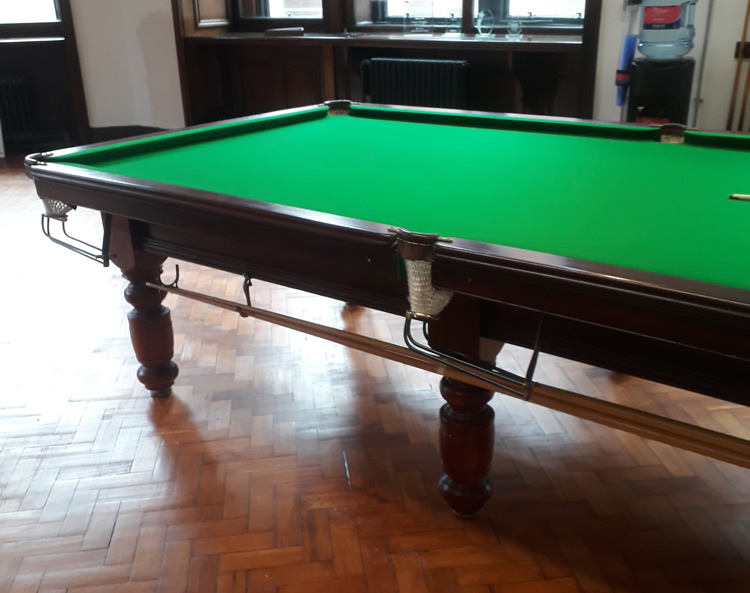 10ft Parkers of Bexley Snooker Table Recovered in Green Napped Cloth