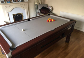 7ft Supreme Prince Pool Table recvoered in Silver Cloth