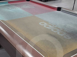Images of a recent Recover of an Adidas Custom Cloth Pool Table