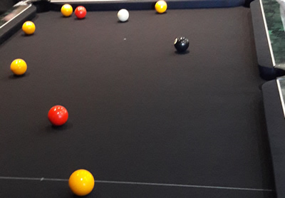 7ft Black Wollen Napped Cloth Pool Table Recover