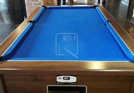 Custom pool table recover in Guiness branded Hop House cloth
