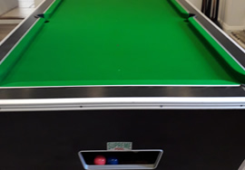 Supreme Pool Table recovered in green napped cloth