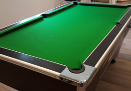 Supreme 7ft Pool Table recovered in green cloth
