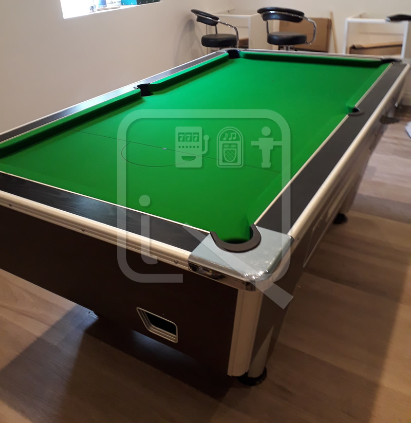 Supreme 7ft Pool Table recovered in napped cloth