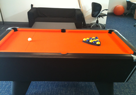 Completed Orange Pool Table Recover