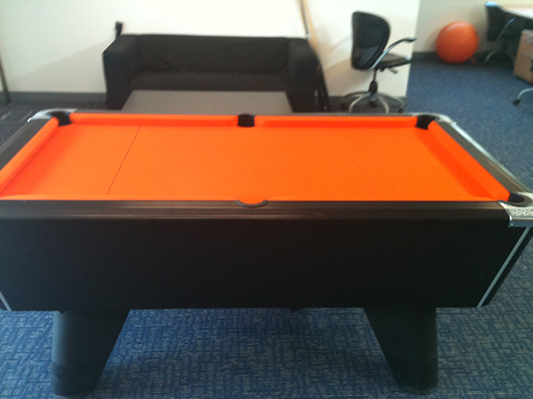 Orange Pool Table Recover