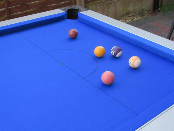Recent recover of a 7ft Pool Table in Northwich, Cheshire