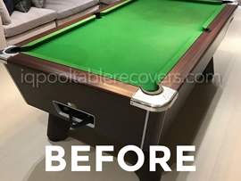 7ft Freeplay Supreme Winner pool table recovered in grey wool cloth