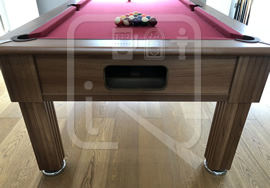 Gatley 7ft Pool Table recovered in burgundy napped cloth