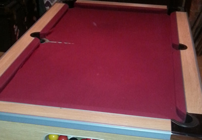 6FT Woolen napped Cloth Pool Table Recover