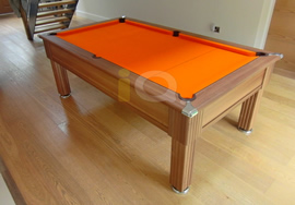 Gatley 7ft Pool Table in orange napped cloth