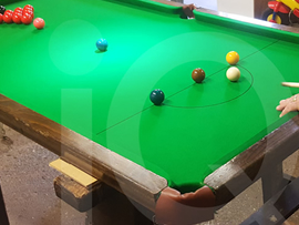 5ft Atlas Table Top Snooker Table recovered in green cloth by IQ