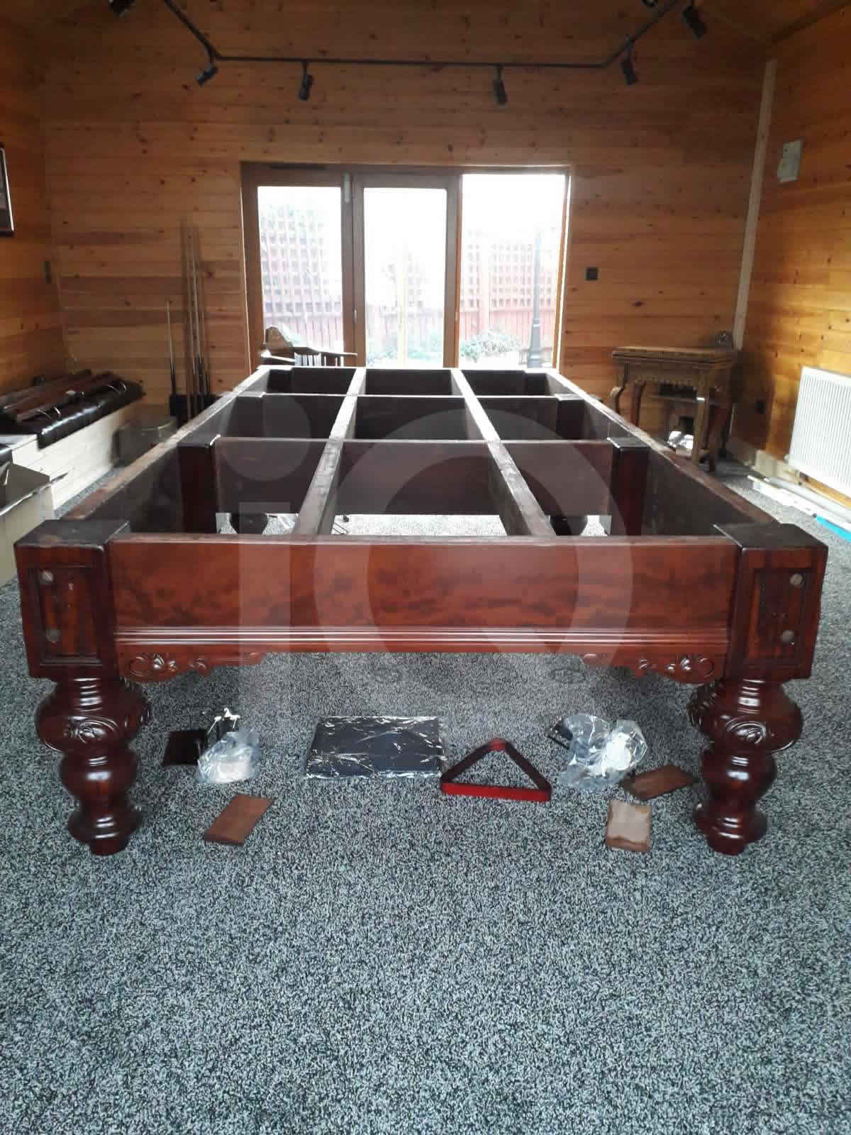 Snooker table recovered on site by IQ