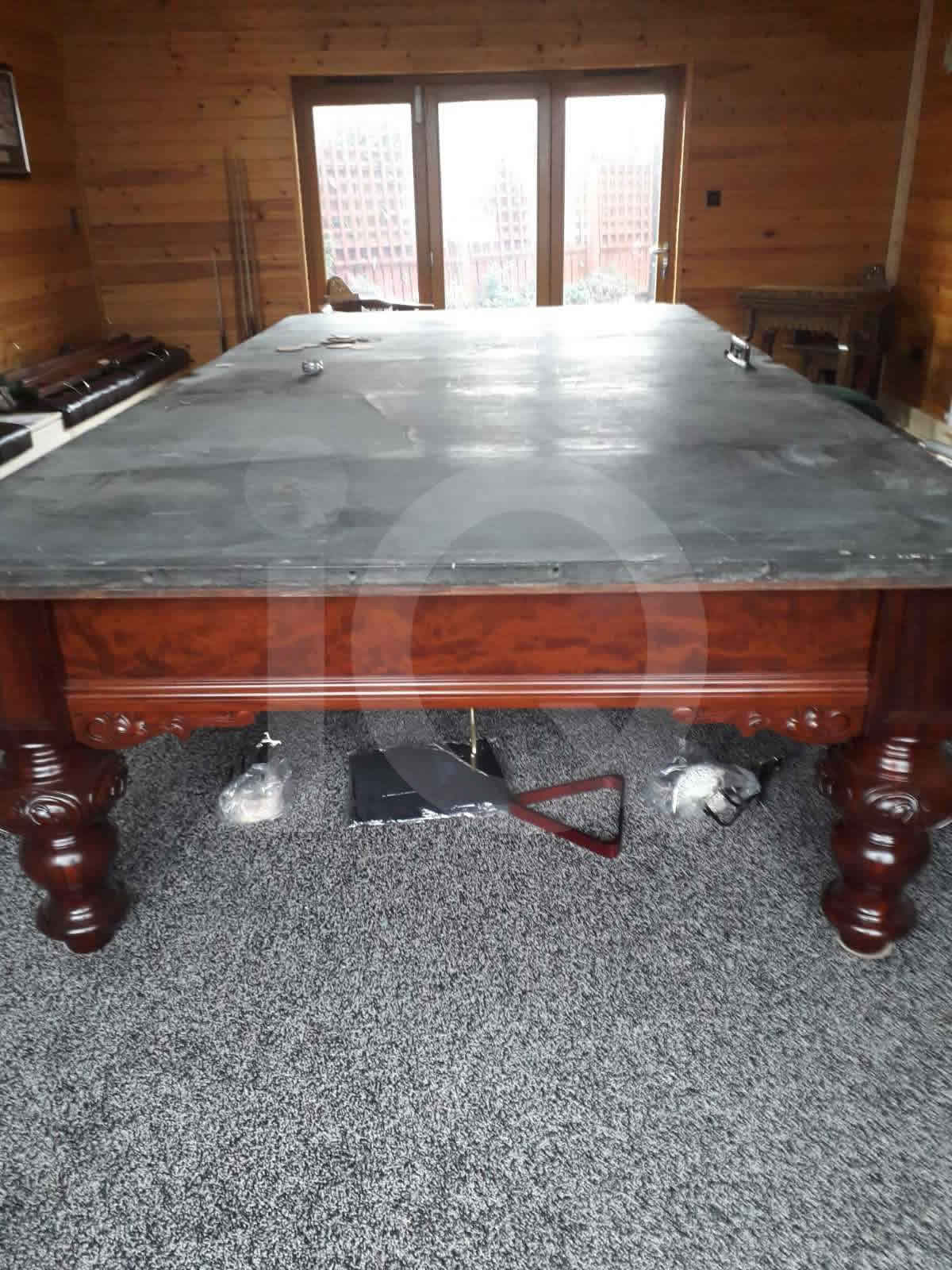 Snooker table recovered by professional craftsmen