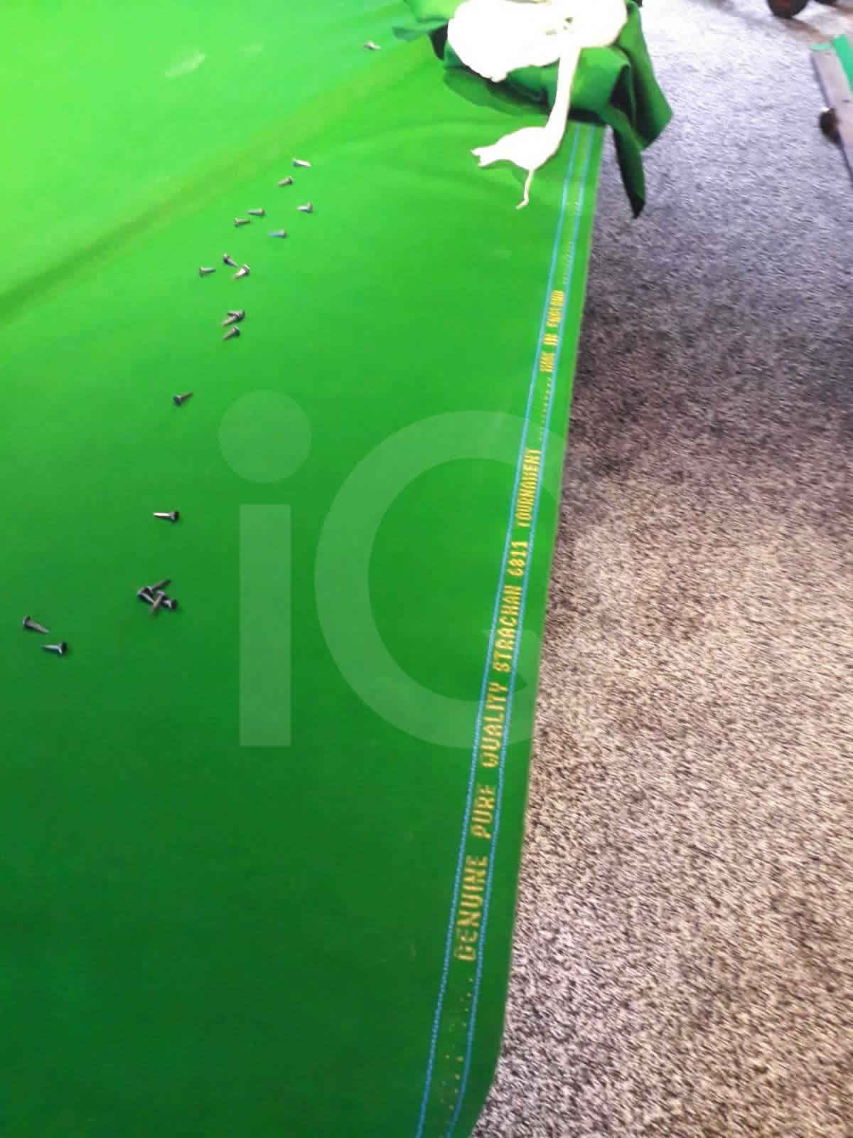 Snooker table recovered by professionals