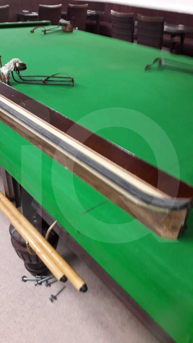 A classic recover of a snooker table