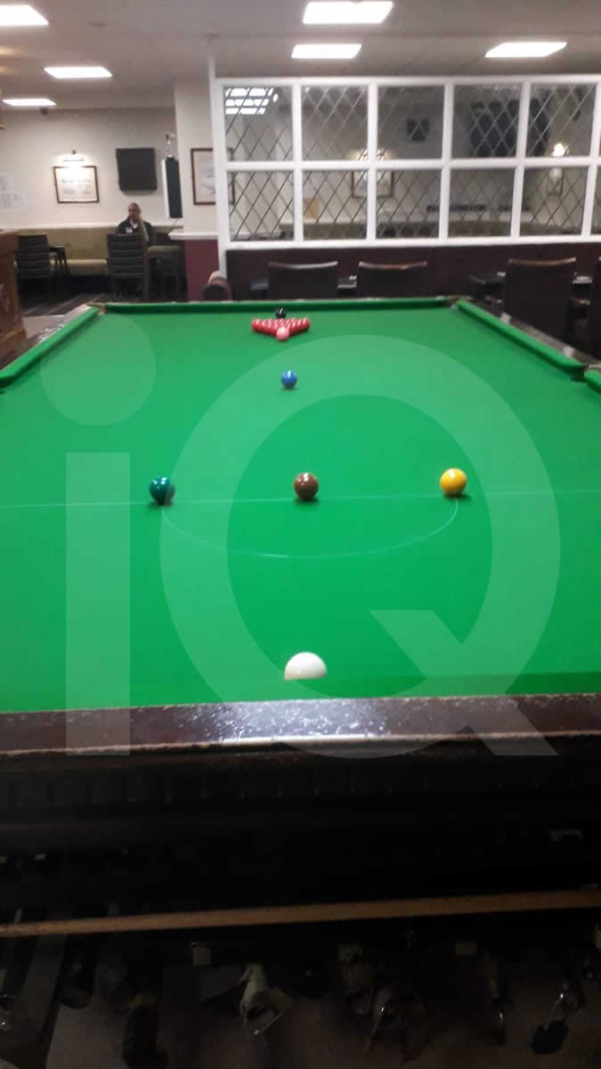 A recover job done on a classic snooker table