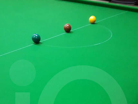 Snooker Table recovered in green cloth by IQ