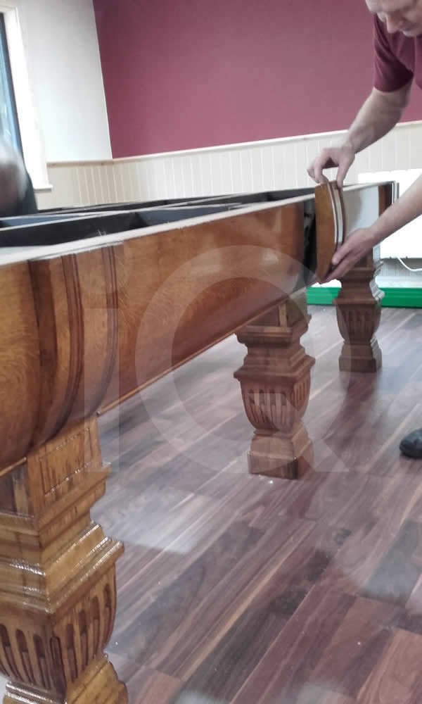 Snooker table installed by professionals