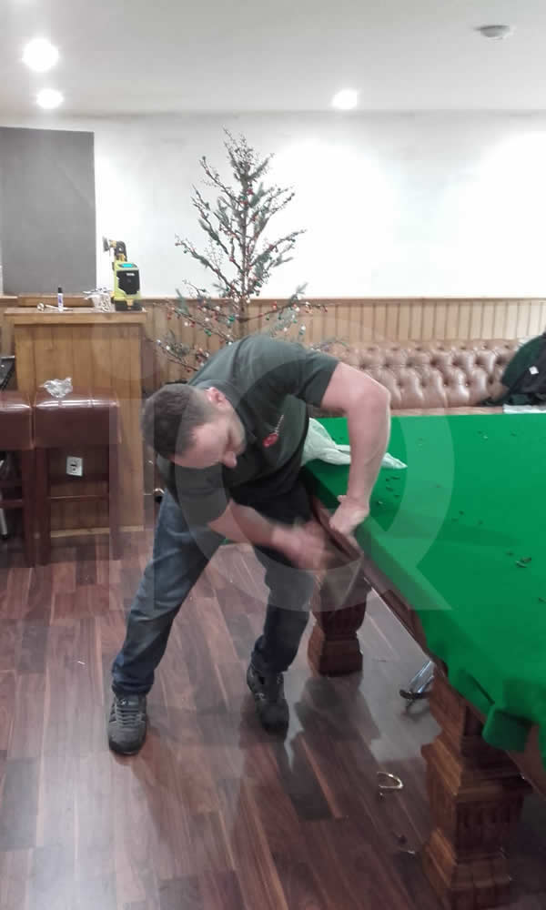 Snooker table installation