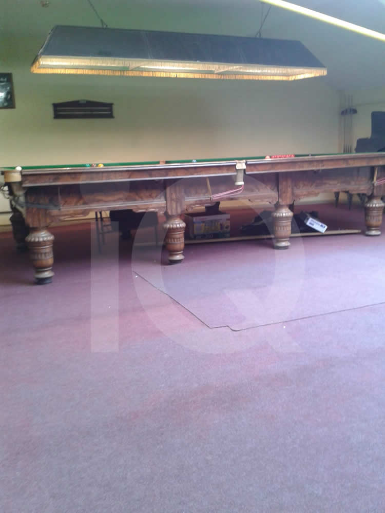 Grey Snooker Table recovered with Green Cloth