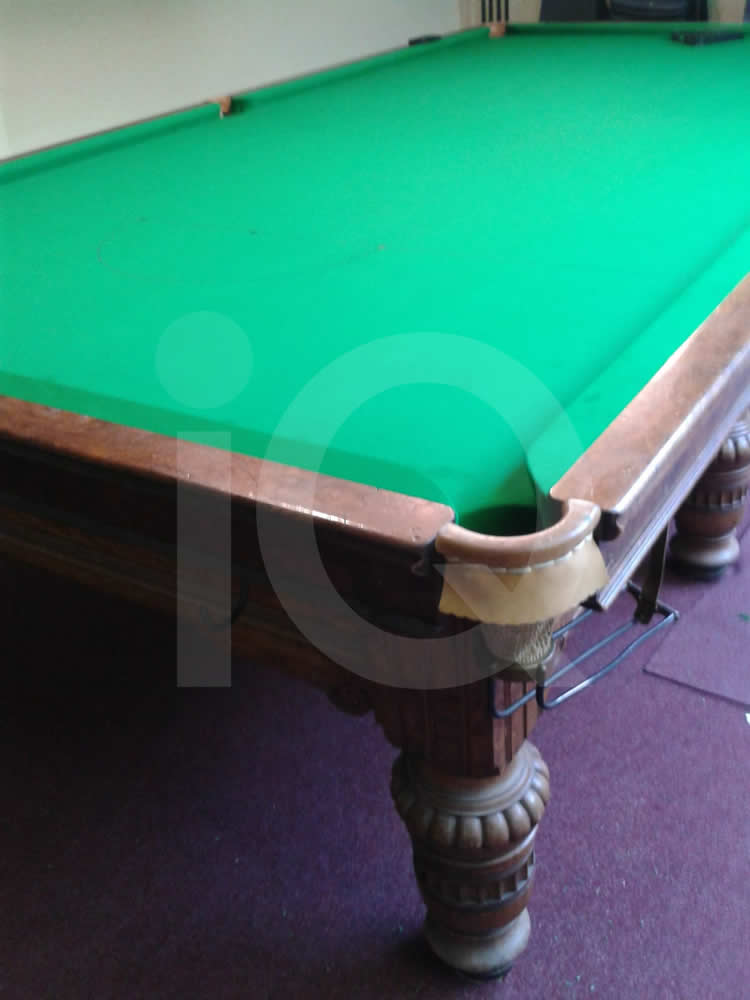A Snooker Table recovered from Grey to Green