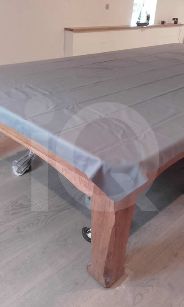 A Snooker Table Recover job in Grey Cloth
