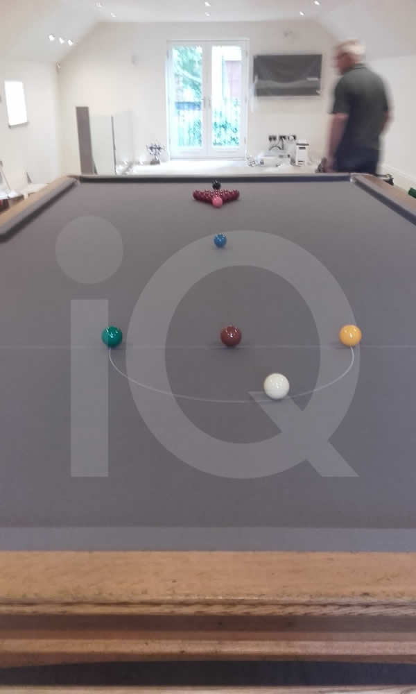 Recovering Job of a Snooker Table in Grey Cloth