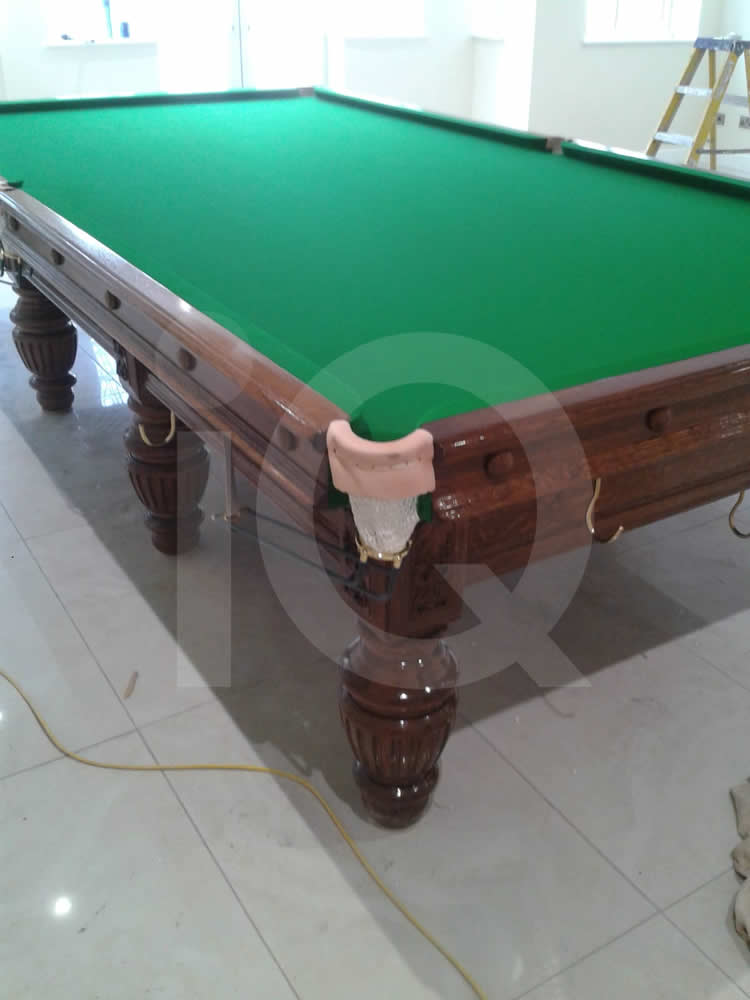A Snooker Table Recover in Green