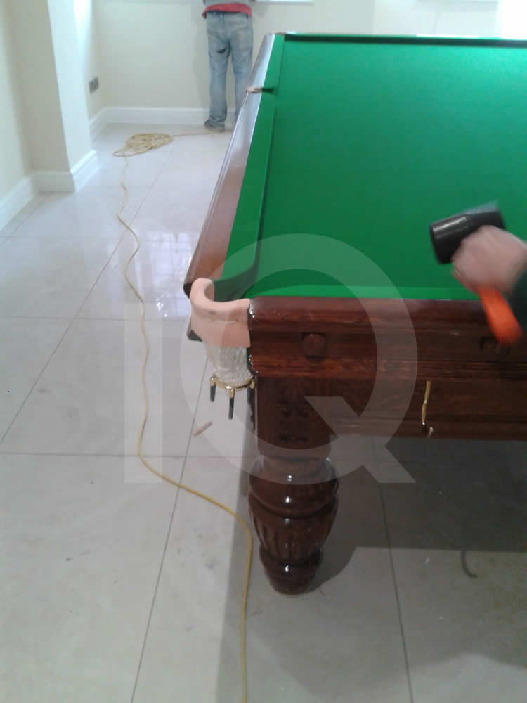 Images of a Green Snooker Table Recover