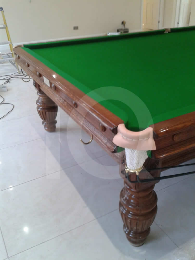 A Snooker Table Recover job in Green Cloth