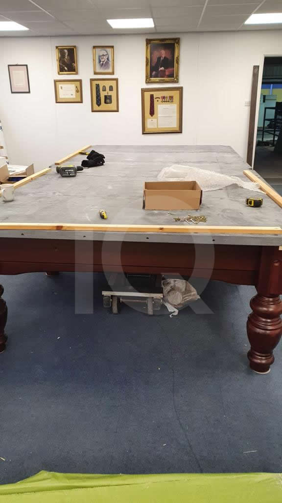 Assembly of an Alliance full size Classic Snooker Table Before Image 11