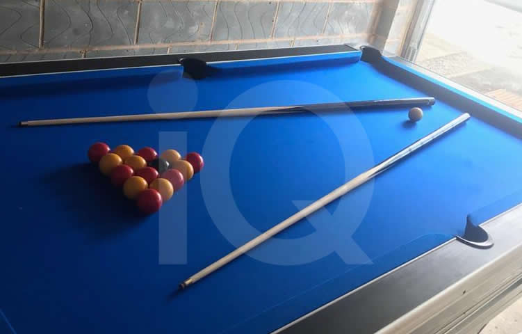 HGM Diplomat 7ft Pool Table Recovered in Blue Napped Wool Cloth image 2