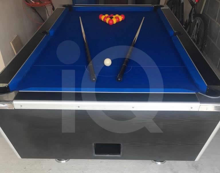 HGM Diplomat 7ft Pool Table Recovered in Blue Napped Wool Cloth image 3