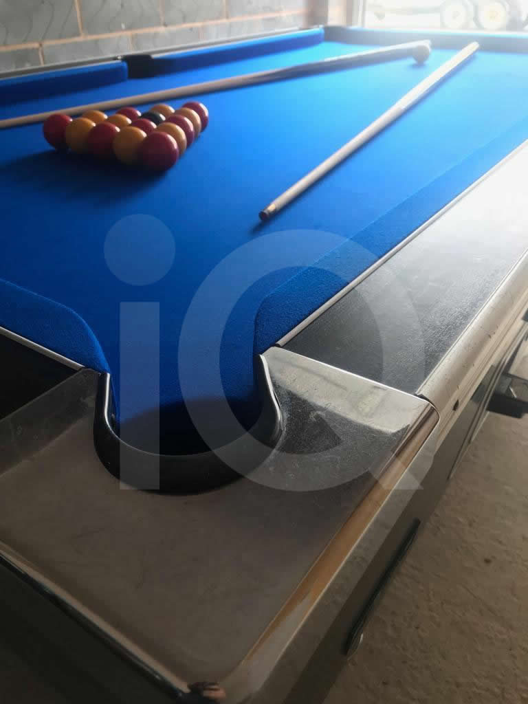 HGM Diplomat 7ft Pool Table Recovered in Blue Napped Wool Cloth image 4