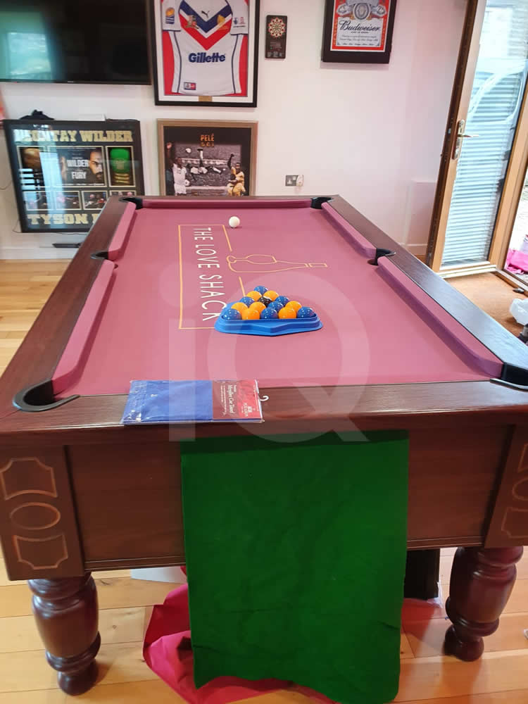 Recover of an DPT 7ft  Pool Table with Love Shack Custom Cloth After Image 12