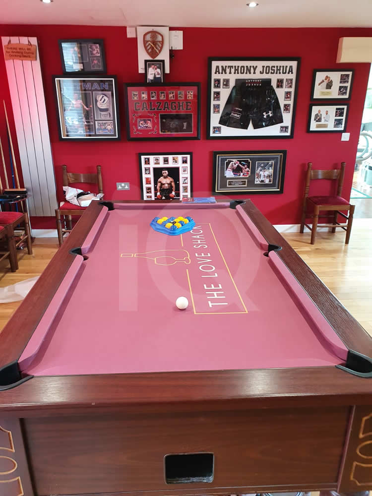 Recover of an DPT 7ft  Pool Table with Love Shack Custom Cloth After Image 13