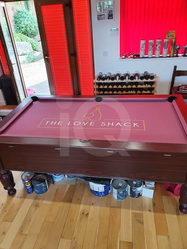 Recover of an DPT 7ft  Pool Table with Love Shack Custom Cloth After Image 14
