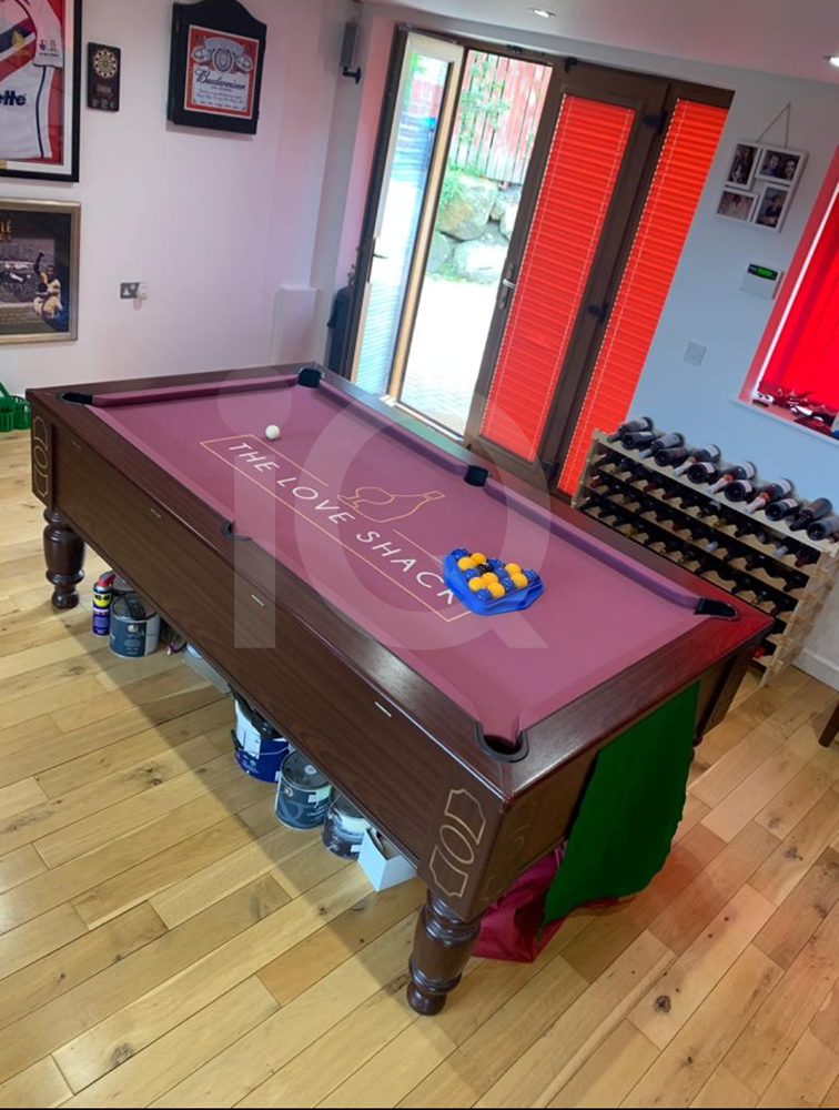Recover of an DPT 7ft  Pool Table with Love Shack Custom Cloth After Image 16
