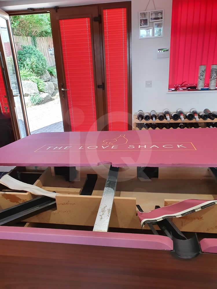 Recover of an DPT 7ft  Pool Table with Love Shack Custom Cloth After Image 2