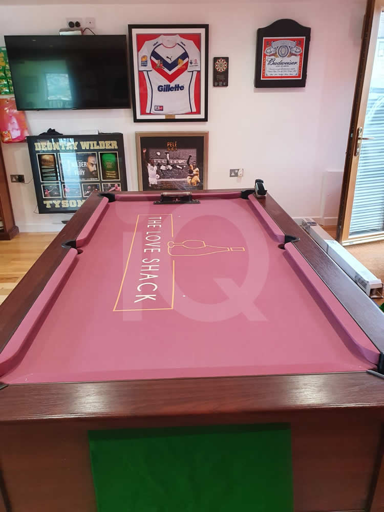 Recover of an DPT 7ft  Pool Table with Love Shack Custom Cloth After Image 4