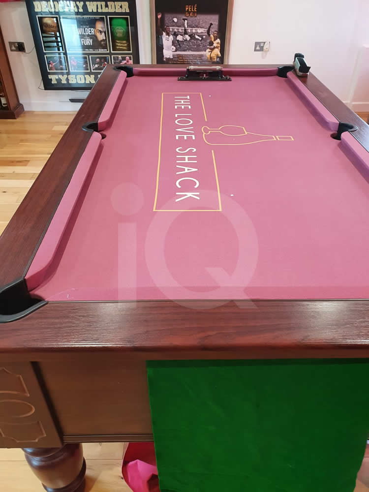 Recover of an DPT 7ft  Pool Table with Love Shack Custom Cloth After Image 5